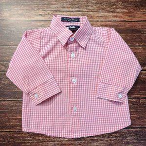 Pink Check Dress Shirt
